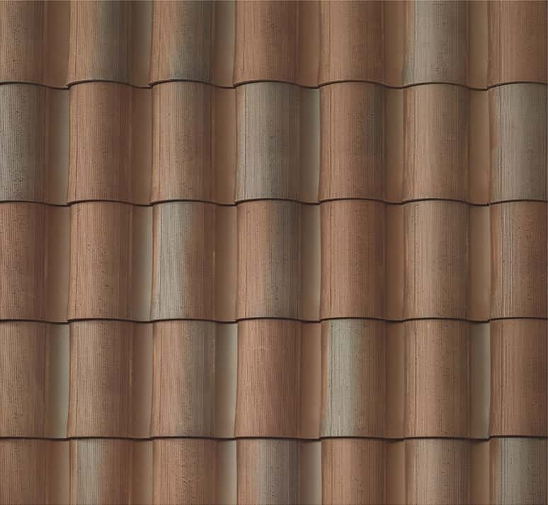 """BORAL 1-Piece """"S"""" Tile Rustic Madera Swatch"""