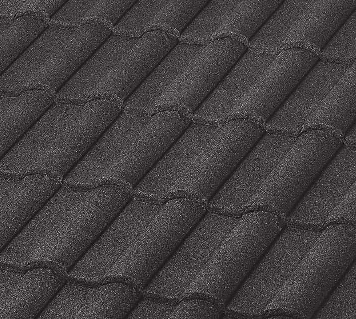 BORAL Barrel-Vault Tile Charcoal House