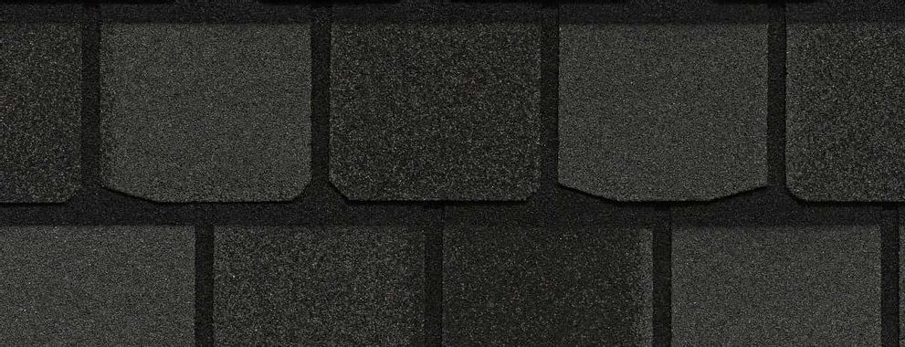 Certainteed Highland Slate Black Granite Swatch