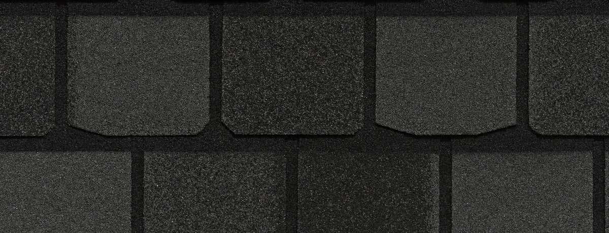 Certainteed Highland Slate Black Granite Swatch