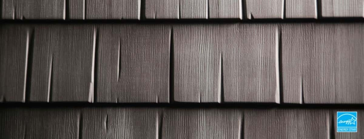 Certainteed Matterhorn Metal Shake Weathered Wood Swatch