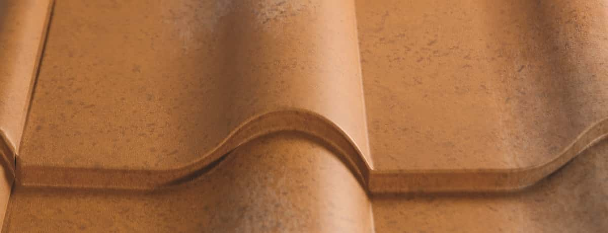 Certainteed Matterhorn Metal Tile Weathered Terracotta Swatch
