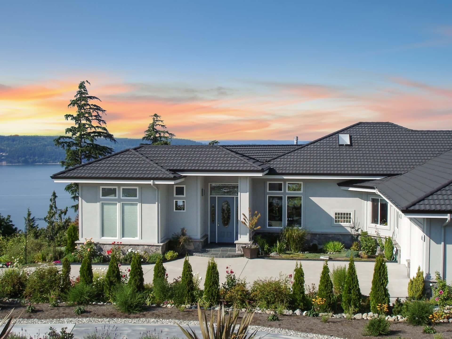 DECRA Tile Charcoal House