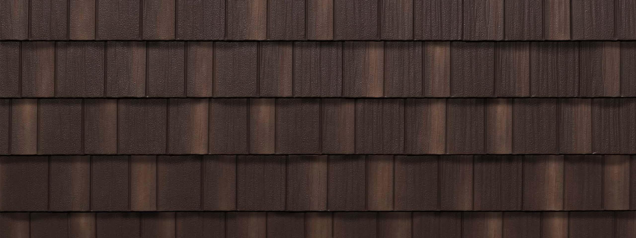 EDCO Infiniti® Textured Steel Shake Chestnut Brown Enhanced Swatch