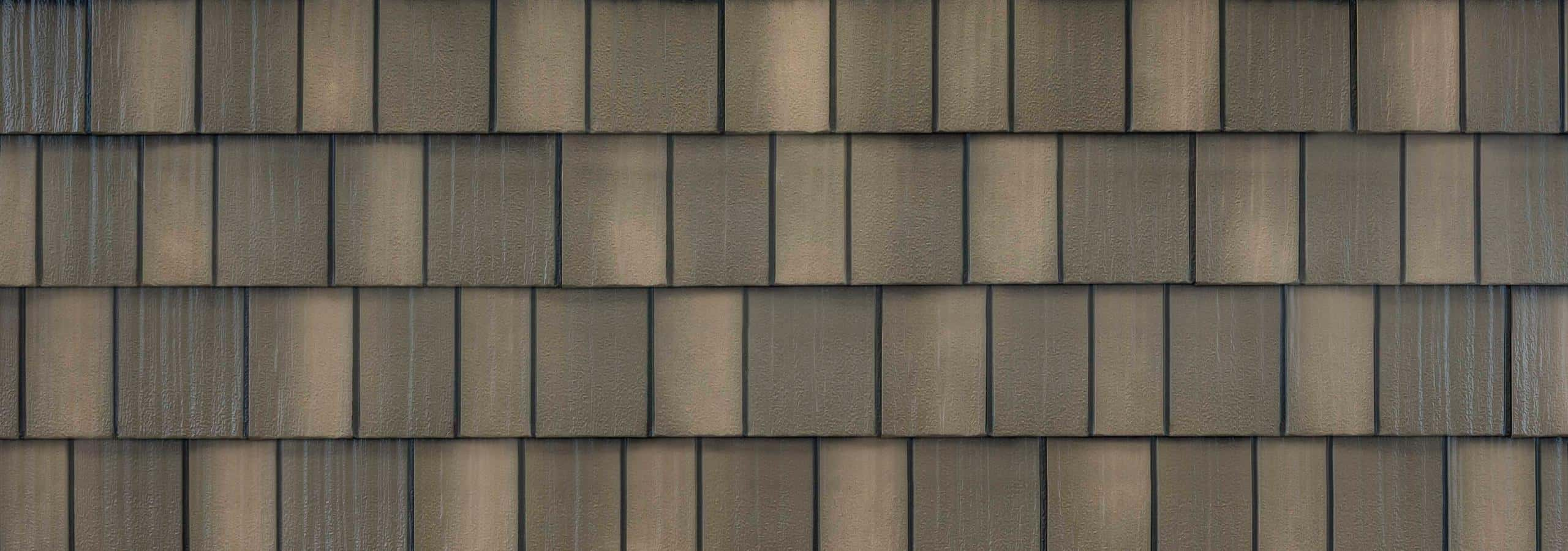 EDCO Infiniti® Textured Steel Shake Weathered Wood Swatch