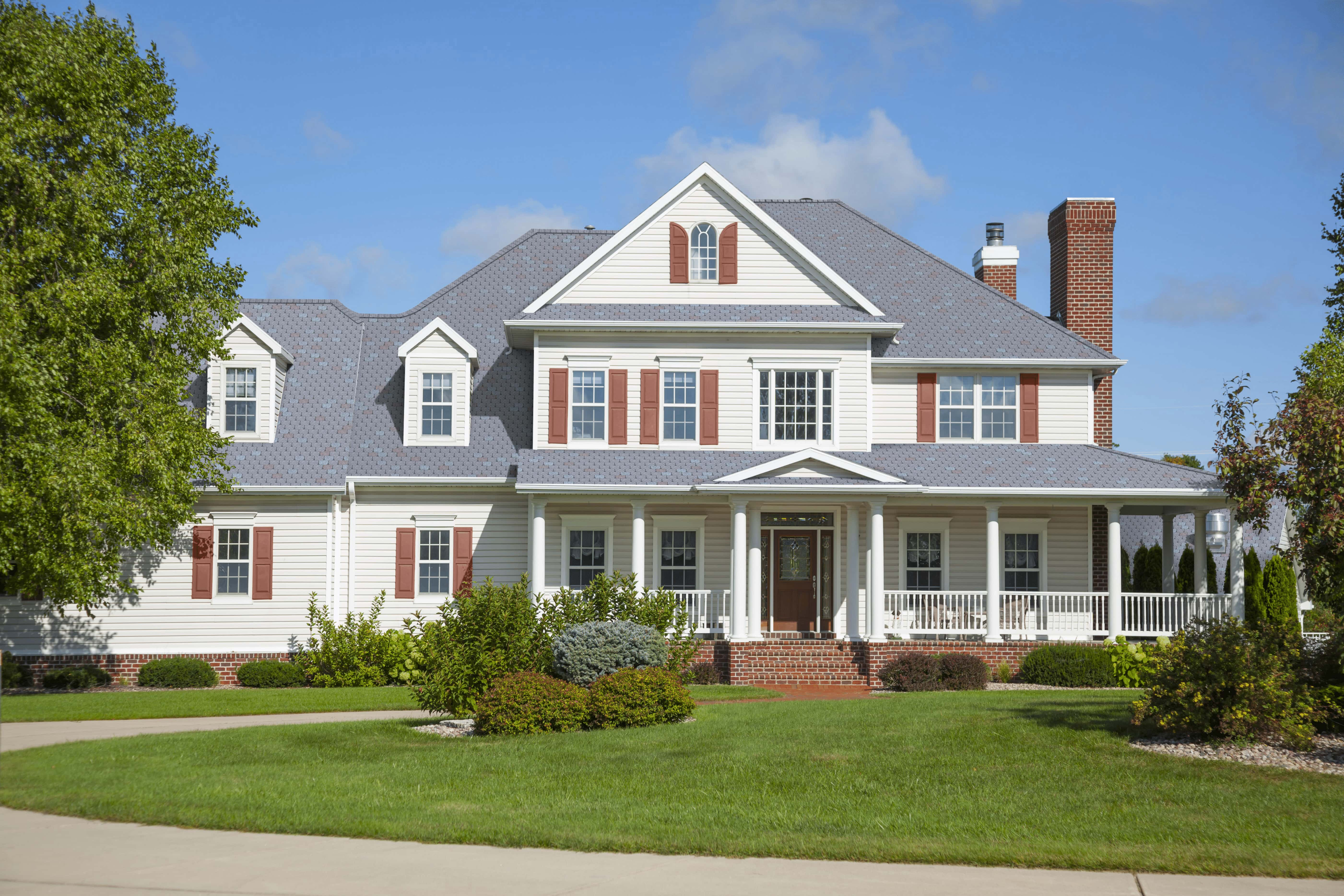 F-Wave REVIA™ Designer Slate Estate Series Colonial Estate House