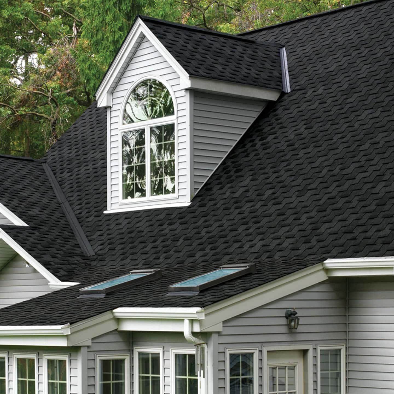 GAF Grand Sequoia Armorshield Charcoal House