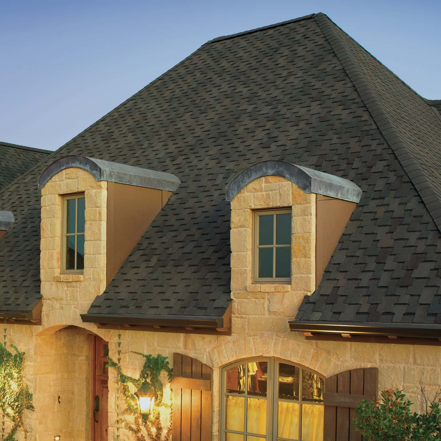 GAF Grand Sequoia Armorshield Dusky Gray House