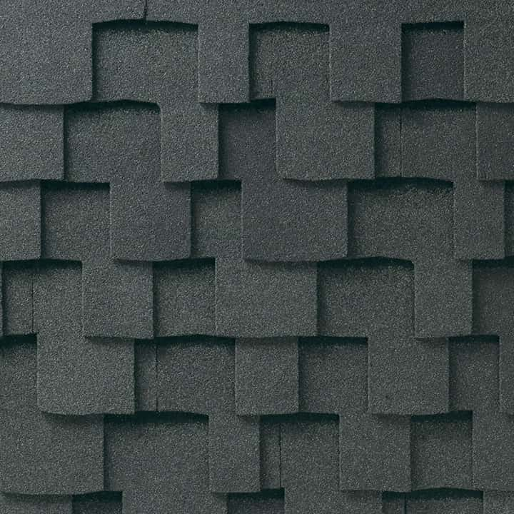 GAF Grand Sequoia Reflector Plus Charcoal Plus Swatch