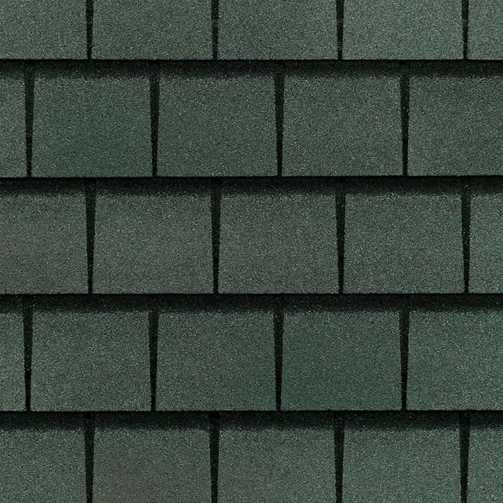 GAF Slateline Emerald Green Swatch