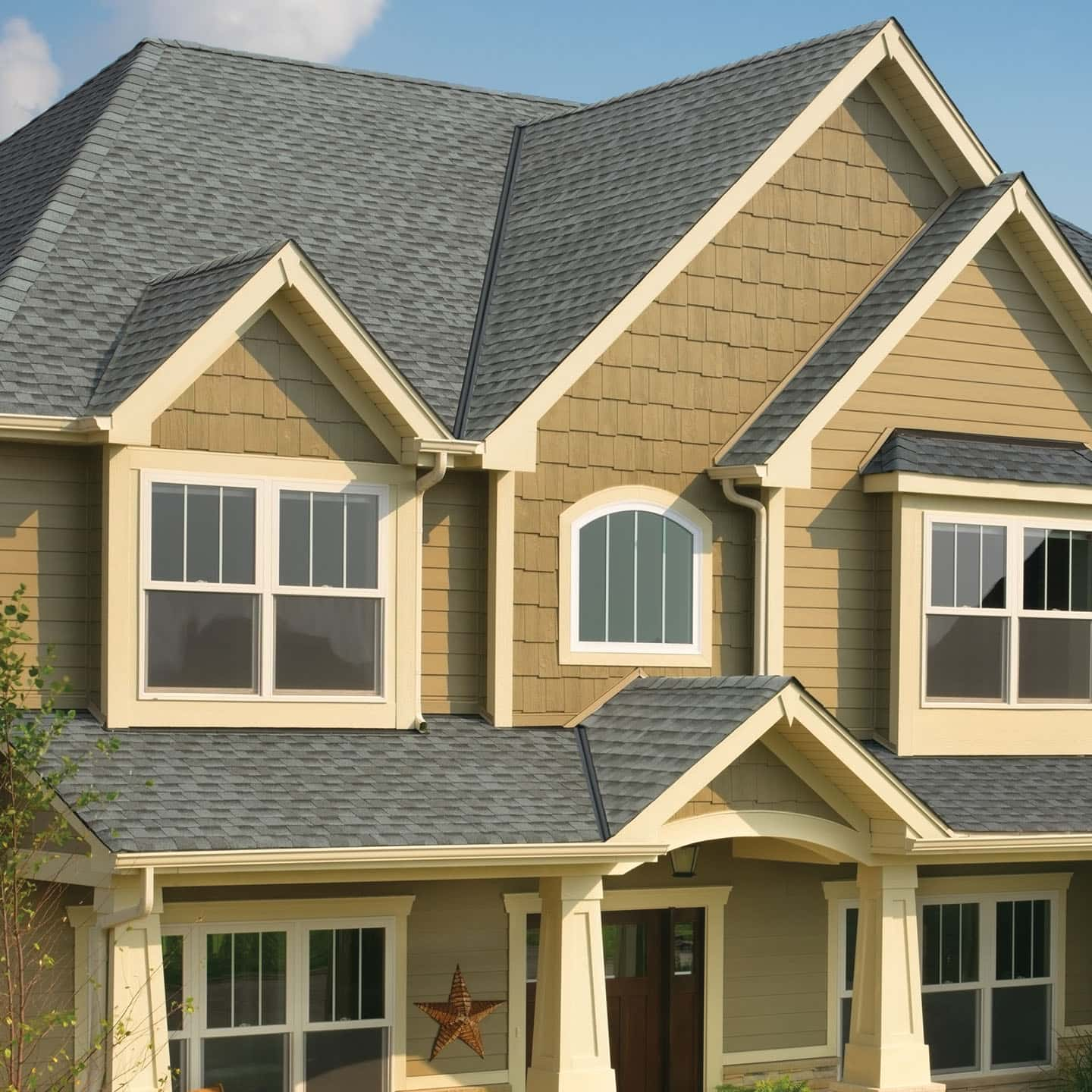 GAF Timberline HDZ Pewter Gray House