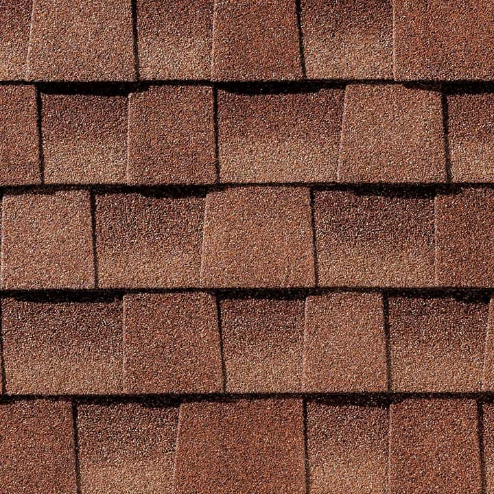 GAF Timberline HDZ Sunset Brick Swatch