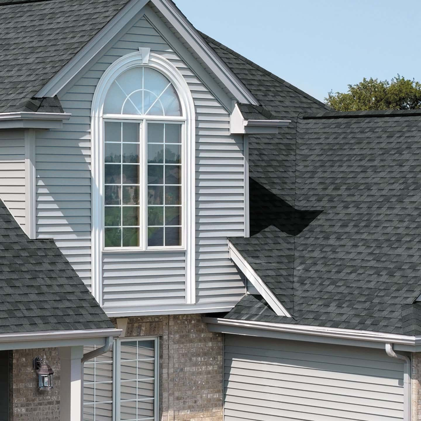 GAF Timberline Natural Shadow Pewter Gray House