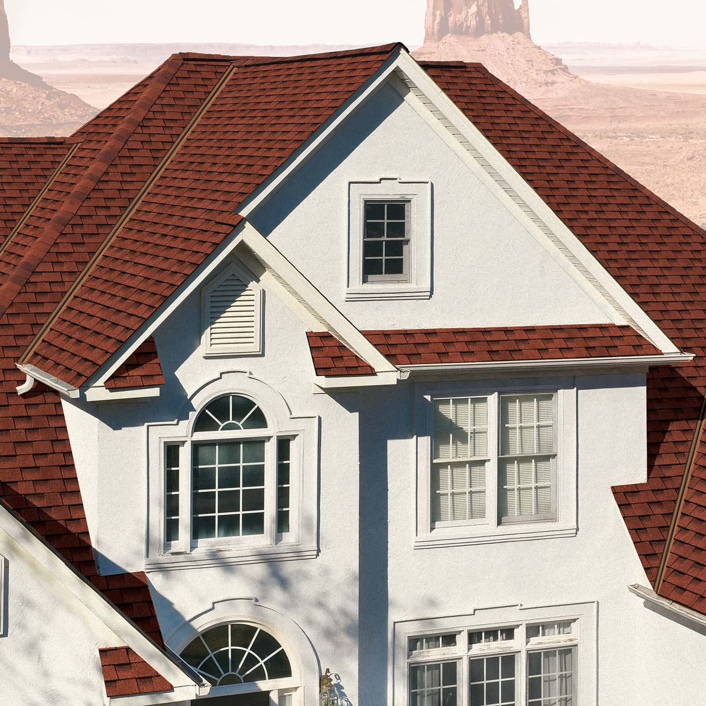 GAF Timberline UHD Patriot Red House