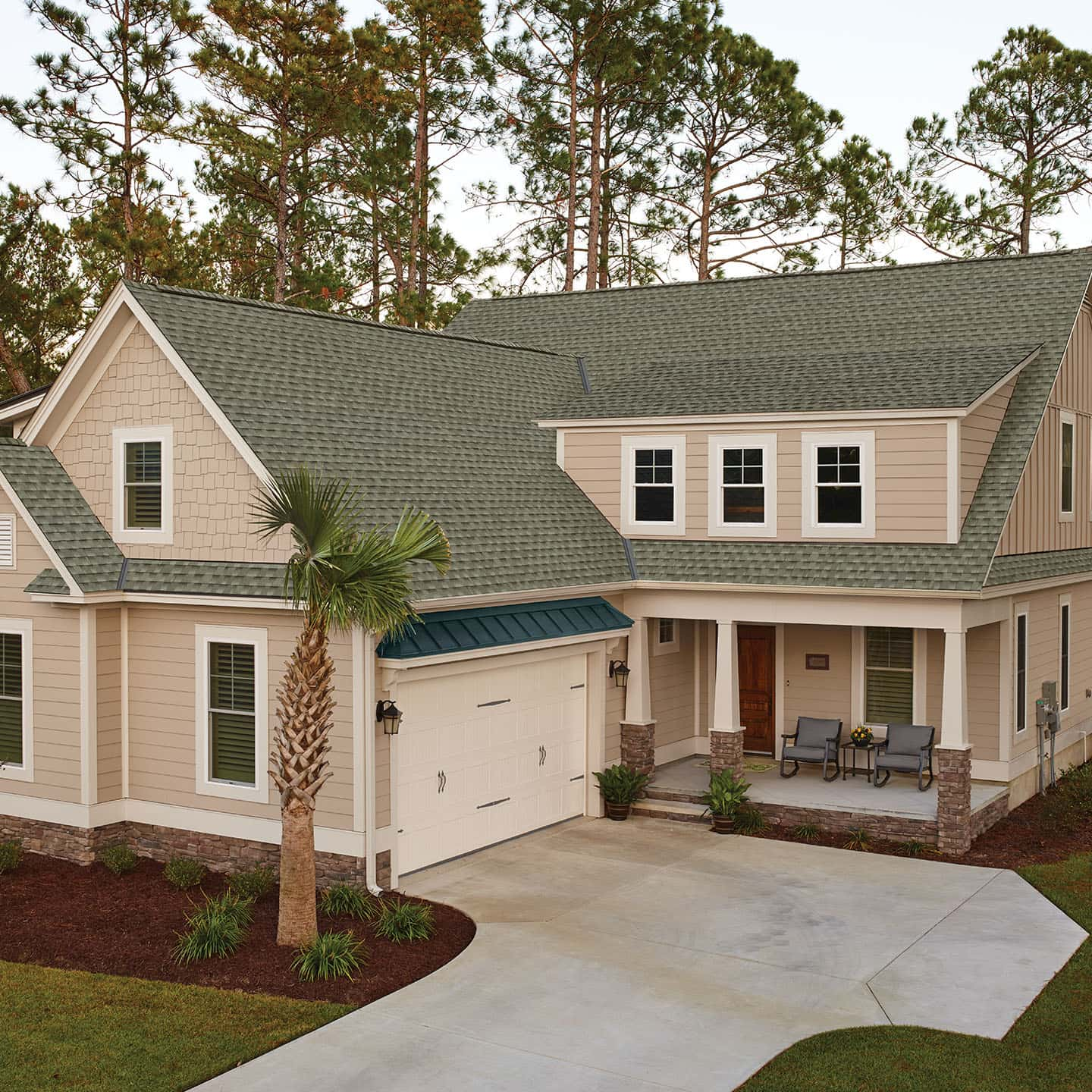 GAF Timberline UHD Reflector Series Sagewood House