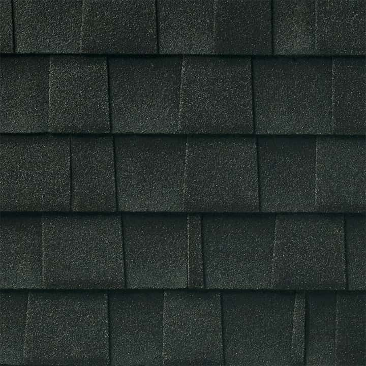 GAF Timberline UHD With Dual Shadow Line Charcoal Swatch