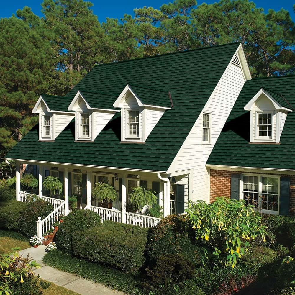 GAF Timberline UHD With Dual Shadow Line Hunter Green House