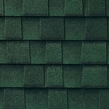 GAF Timberline UHD With Dual Shadow Line Hunter Green Swatch