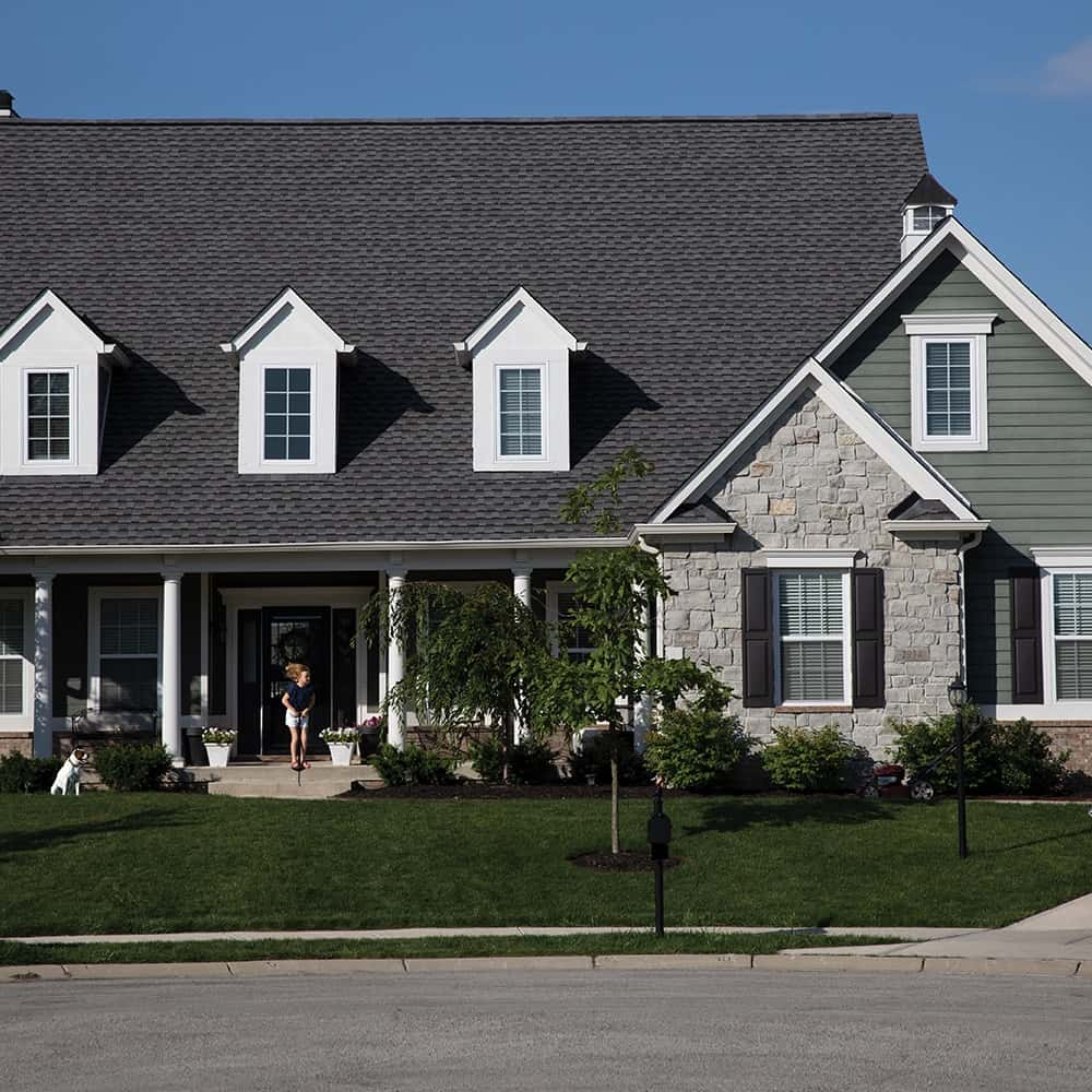 GAF Timberline UHD With Dual Shadow Line Pewter Gray House
