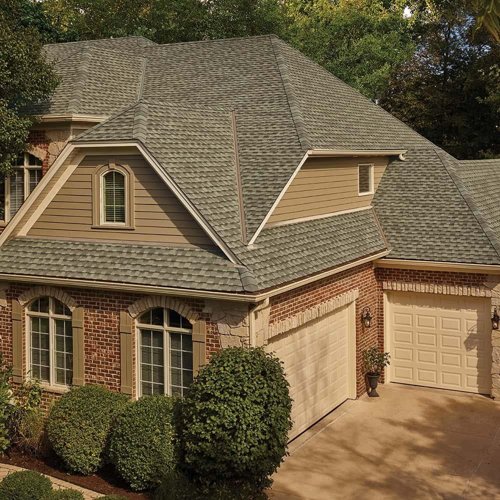 GAF Timberline UHD With Dual Shadow Line Weathered Wood House