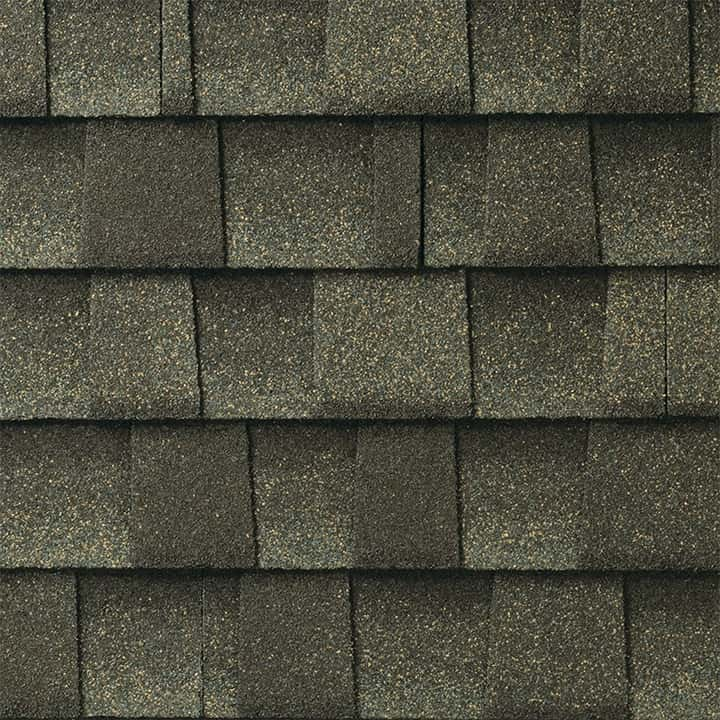 GAF Timberline UHD With Dual Shadow Line Weathered Wood Swatch