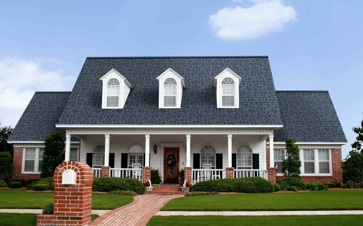Owens Corning Duration Harbor Blue House