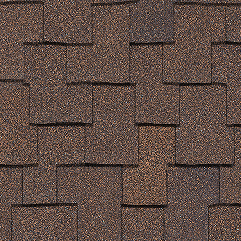 Owens Corning Woodcrest Forest Brown Swatch