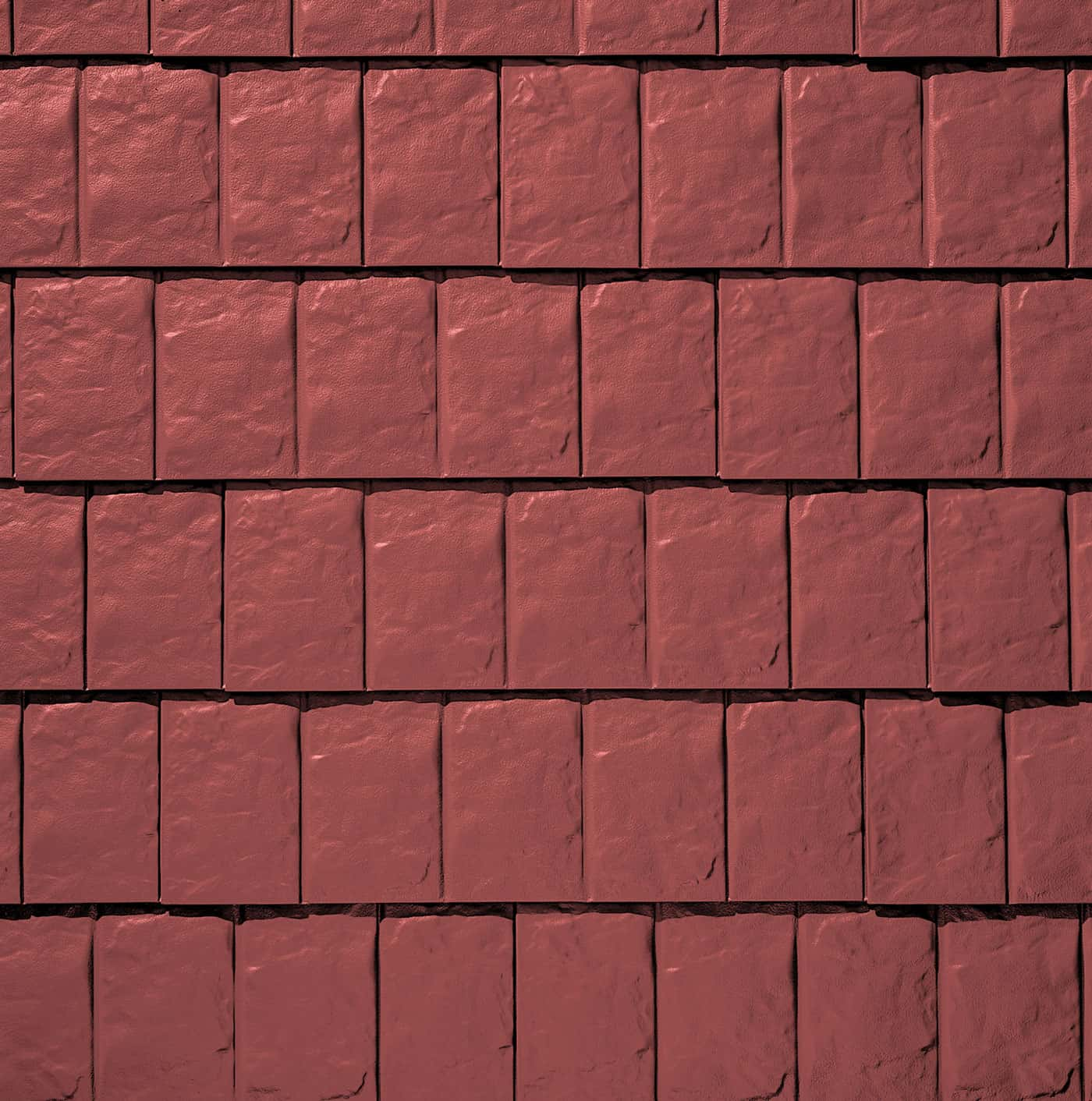 TAMKO Metalworks Stonecrest Slate Sequoia Red Swatch