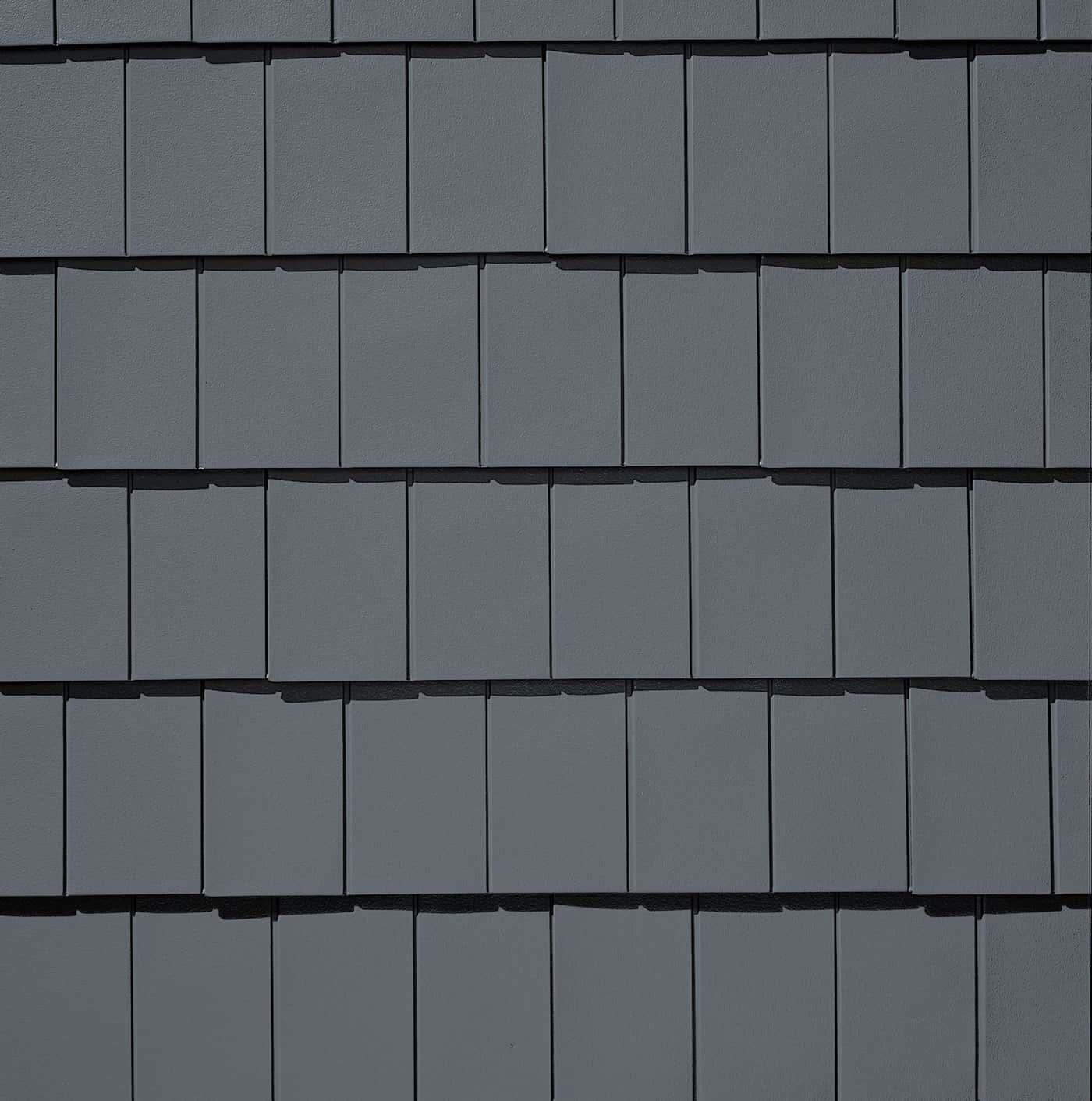 TAMKO Metalworks Stonecrest Tile Sierra Slate Grey Swatch